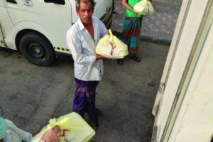 إغاثة غذائية لمتضرري كورونا بصناعية الدمام