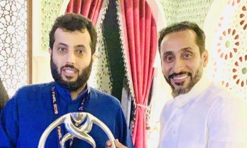 تركي آل الشيخ ينفعل أثناء مباراته الخيرية مع السويلم