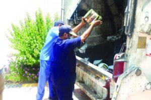 القطيف.. ضبط مسلخ مخالف وإتلاف 165 كيلو معسل